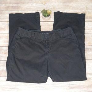 Gap Curvy Khaki Chino Black Ankle Pants Size 12